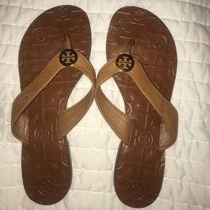 Tory Burch Monroe Brown Leather Sandal-Size 7